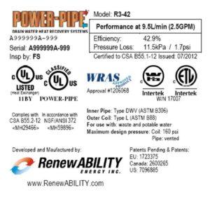 RenewABILITY Energy Inc  - Home of the Power-Pipe Drain Water Heat