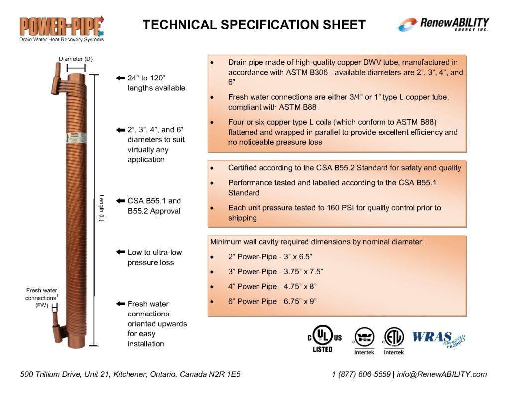 20170913 Power-Pipe Spec Sheet